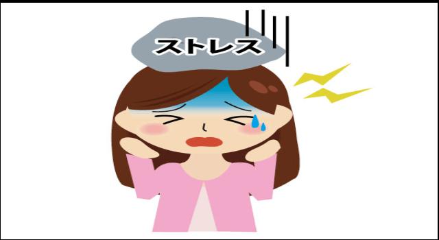 「ストレス」によって起こる腰痛の画像です。