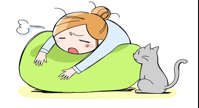 「不眠」で疲れきっている身体の画像です。