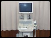 超音波エコー観察装置で体の中を観察いたします。