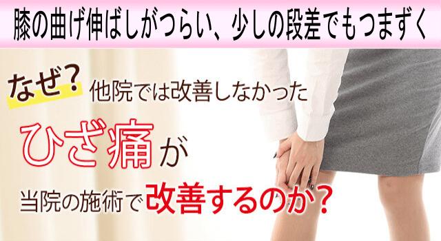 なぜ?なかなか改善しなかった「膝の痛み」が、【足利 なごみ整骨院】の整体で改善するのか?